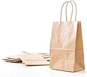 17x Small Luxury Bags Kraft Gift Bag Twisted Handles Paper Party Bags wrapping