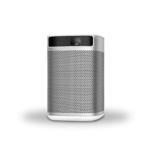 XGIMI MoGo, Smart Mini Portable Projector with Wi-Fi, 210 ANSI Lumen, Android TV 9.0 , Support 4K, Harman/Kardon Speaker, DLP, 10400 mAh Rechargeable Battery, Movie Projector - Watch with Any Angle