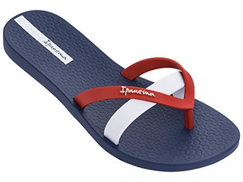 (Ipanema Kirei Women's Flip Flops, Blue/Red/White (8/9 US) )