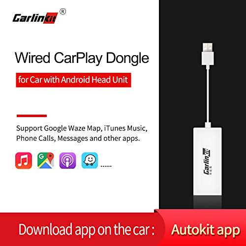 Carlinkit Wired Carplay Dongle/Android Auto USB Receiver Only for Aftermarket Android Head Unit