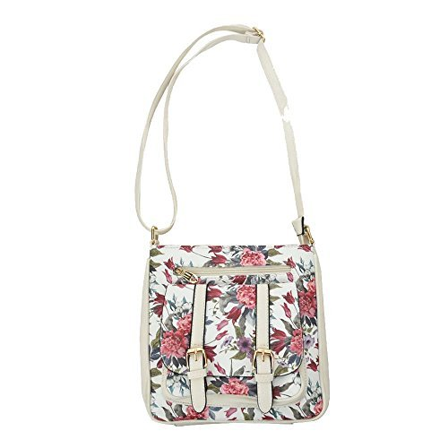 White Bag Diva Flap for Haute Crossbody Women Print Floral Pink nqZUnHzwFx