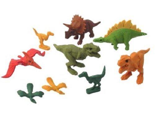 IWAKO Dinosaur Eraser 9pc Set Blister Pack ER-BRI044 (Dinosaur Eraser)
