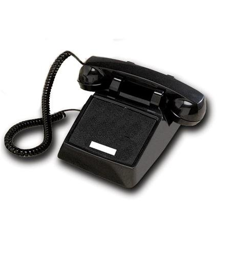 - -Cortelco 250000-VBA-NDL Black desk no dial