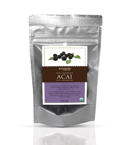 (Extreme Health USA Organic Acai with Mulberries Covered with Dark Chocolate, 1.8-Ounce (Pack of 4))
