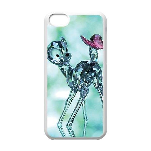 Bambi coque iPhone 5C Housse Blanc téléphone portable couverture de cas coque EBDOBCKCO10398