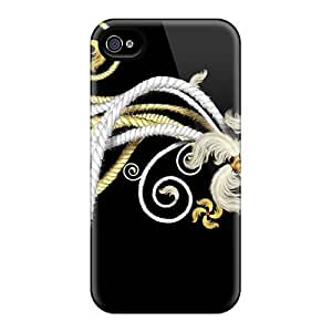 Fashionable HuQkVDT2528GkNAL Iphone 4/4s Case Cover For White Gold Design Protective Case