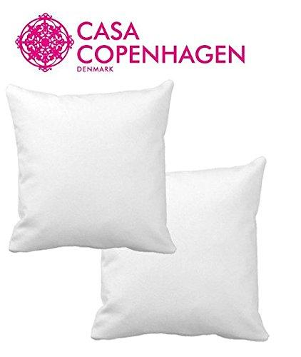 Juego de 2 rellenos de coj/ín color blanco CASA COPENHAGEN Exotic tama/ño 30,5 x 30,5 cm 210 g//m/²