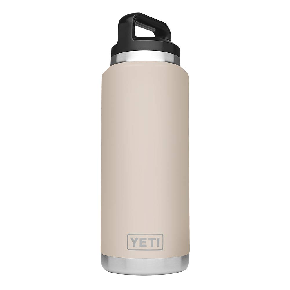 YETI Rambler 36 oz Stainless Steel Vacuum Insulated Bottle with Cap, Sand by YETI