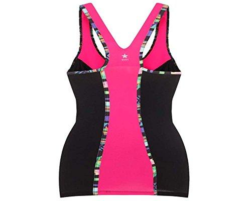 Damen Sport-Kleidung, tief ausgeschnittenes Top mit passenden Leggins, gemustert