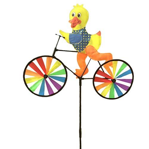 - EA-STONE Bullfrog/Bee / Rabbit/Ladybug / Tiger/Duck / Tortoise on Bike Windmill,Spinning Windmill Children's Outdoor Toys Home Window Garden Yard Decoration (7# Duck)