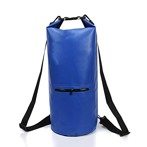 BFVV Waterproof Dry Bag Backpack Roll Top Dry Compression Sack Keeps Gear Dry 20L for Outdoors Watersports Kayaking, Beach, Rafting, Boating, Hiking, Camping and Fishing