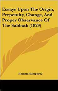 the sabbath essay God created the sabbath to refresh and instruct his people.