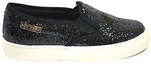Guess Slip On Donna Sneaker Moccasin Metallic Greta2 Black fqngEj