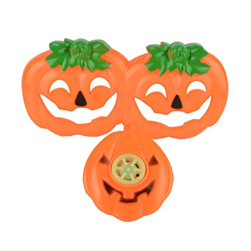 AMOSFUN Halloween Props Kindergarten Students Dressed Pumpkin Glasses and Whistle Sets Children's Toys Gifts Holiday Props (Orange) for $<!--$5.10-->