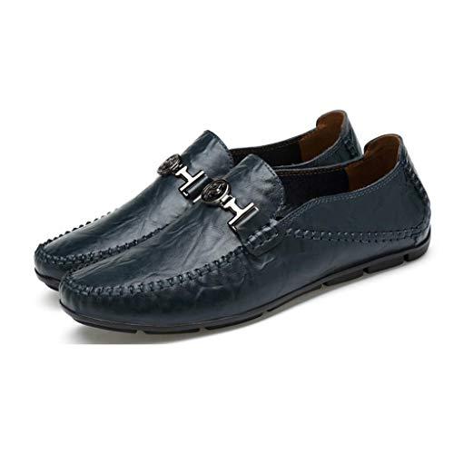 Zapatos Marea Slip para Salvaje otoño de y de de mocasín Confort y Zapatos conducción on de Casuales nuevos de Moda Do de Respirable Cuero Hombres Zapatos xATXtPwq