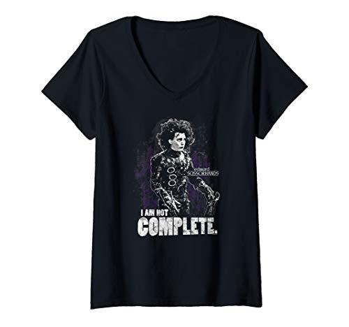 Womens Edward Scissorhands Not Complete V-Neck T-Shirt]()