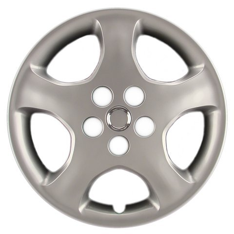 Hubcaps Com Premium Quality 15  Silver Hubcap Wheel Cover Fits Toyota Corolla  Heavy Duty Construction  One Single Hubcap
