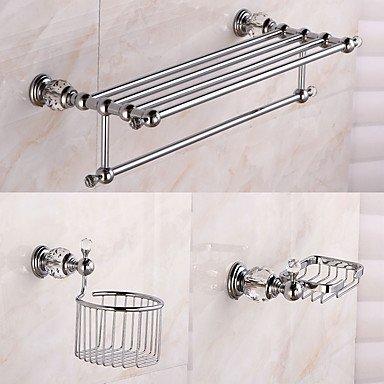 BSF accessoire de salle de bain Ensemble-Chromebrass Cristal-contemporain