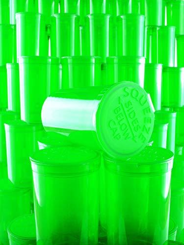 TRANSLUCENT GREEN de 225 x 19 Dram // 80 ml POP TOP SQUEEZE Bottles Container Vials RX PP-TR-GR-225 Resistente a los ni/ños aprobado por la FDA Botellas de pl/ástico de grado m/édico