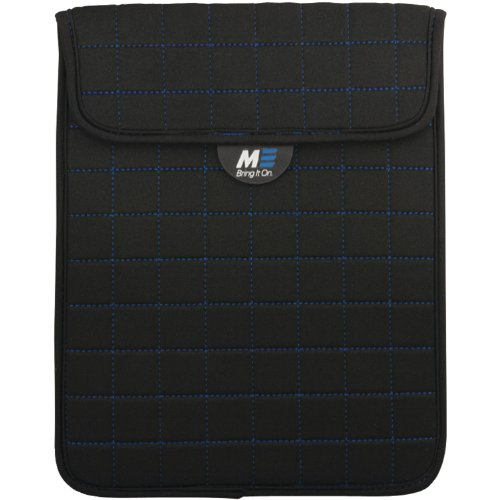 Mobile Edge NeoGrid Sleeve for All iPads and 10-Inch Tablets - Black with Blue (MESST1103) by Mobile Edge