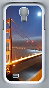 Golden Gate Bridge Moonlight PC Case Cover for Samsung Galaxy S4 and Samsung Galaxy I9500 White