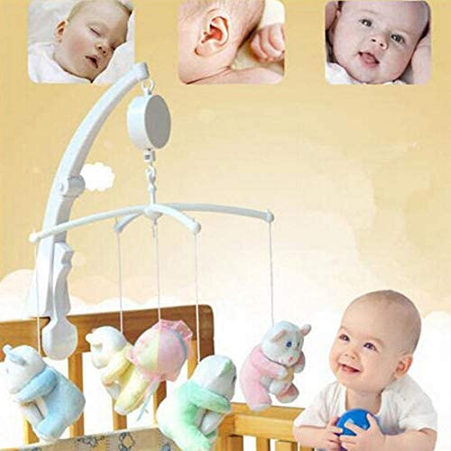 Suppyfly Baby Bed Bell Hanging Music Box Rotary Mobile Bed Bell Toy Mechanical Music Box