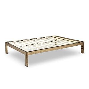 The frame gold brushed steel frame 14 inch for Height of platform bed