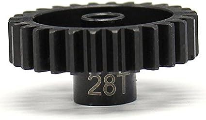 Hot Racing 28t Steel Mod 1 Pinion Gear 5mm NSG28M1