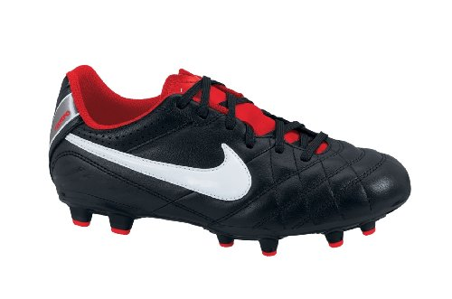 Nike Tiempo Natural IV LTR FG Junior black-white-challenge red 37,5