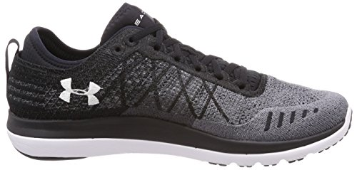Under Armour Threadborne Fortis Herren Sneaker Schwarz, Black, 43 EU