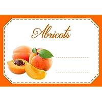 Mon Bio Jardin Lot de 30 étiquettes autocollantes abricots pour confiture, compote, conserves maison