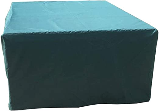 IDWOI Fundas para Muebles De Jardín Rectangular Juego De Fundas para Mesa Y Silla Impermeable Tela Oxford, Verde (Size : 123x123x74cm): Amazon.es: Hogar