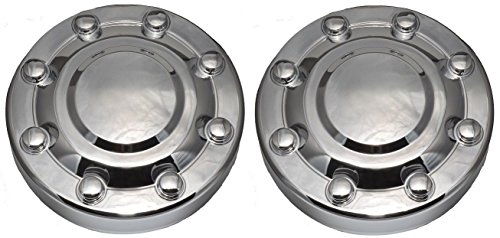 w Front Wheel Hub Chrome Center Caps Replacement for 2000-2002 Dodge Ram 3500 1-TON Dually DRW ()