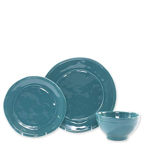 Viva Fresh Teal 3-Piece Place Setting - Dinner Plate, Cereal Bowl, Salad ()