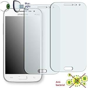 2 x Película de protección de pantalla DISAGU ClearScreen para Samsung I8552 Galaxy Win Duos antibacterial, filtro BlueLightCut película de protección