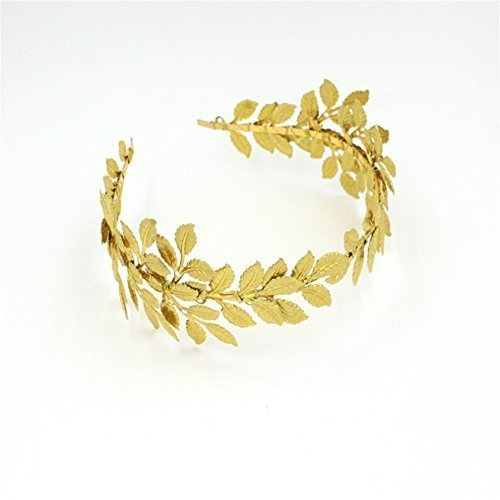 Gold Plated Olive Branch Leaf Design Headpiece for Wedding Bridal Party ,Prom or Birthday by -