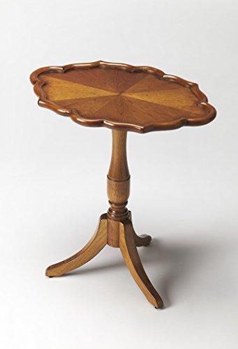 BUTLER 3504101 HIGGINS OLIVE ASH BURL OVAL PEDESTAL TABLE