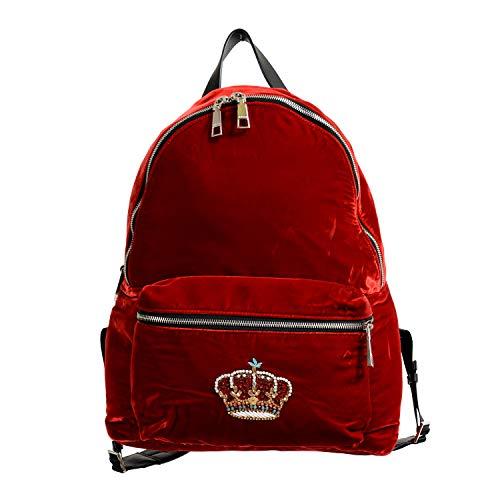 Versace 'n' Royalty Men's DFZ6735-DVEL Red Velour Backpack ()