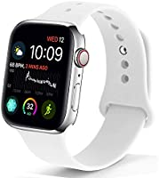 NUKELOLO Sport Band Compatible with Apple Watch 42MM 44MM,Soft Silicone Replacement Strap Compatible for Apple Watch...