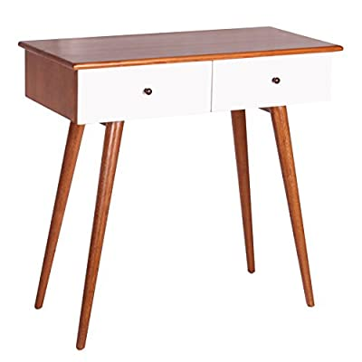 Porthos Home Chandra Console Table, White - Two drawers Made of Solid wood Deep walnut Finish - living-room-furniture, living-room, console-tables - 41ZaKkRbmfL. SS400  -