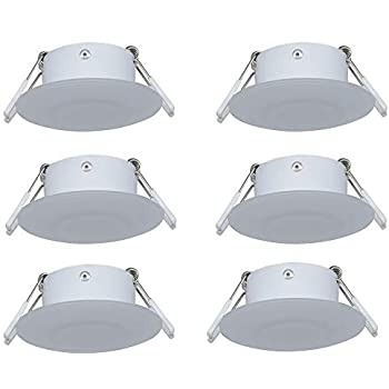 Facon 4 1//2 LED RV Puck Light Cabinet Light Surface Mount Ceiling Down Light 4W 280Lumens,Nature White 4000K Pack of 2