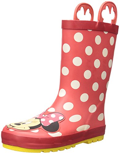 Western Chief Kids Waterproof Disney Character Rain Boots with Easy on Handles, Minnie Mouse, 6 M US Toddler]()