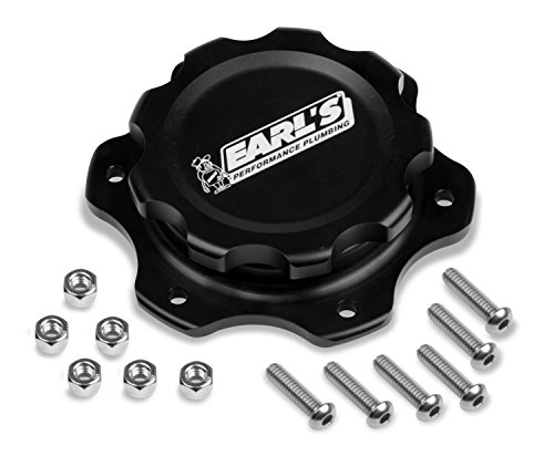 (Earl's Performance 166016ERL Fuel Cell Cap And Bung (w/6 Bolt Flange Alm))