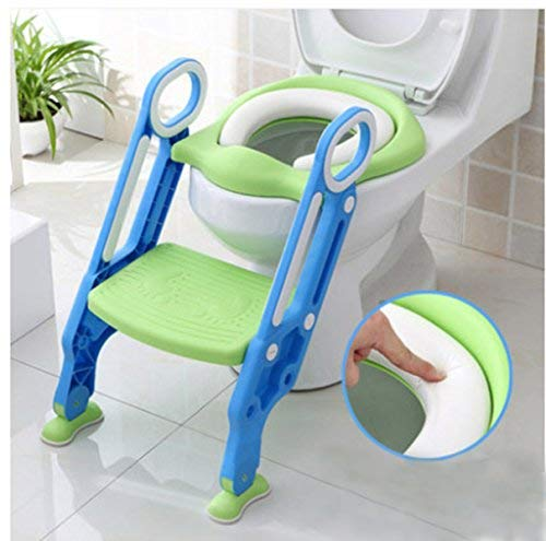 New Safety Potty Chair, Toddler Plastic Potty Training Toilet, Kids Soft Folding Potty Seat with Sturdy Non Slip Ladder and Anti Slip Pads by NEWBEGIN (Image #1)