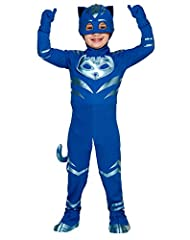 Your little one will feel like they can fight any evil in this officially licensed PJ Mask costume! The Catboy pajama costume jumpsuit features a metallic detail of Catboy's personal artwork, and will have your child standing out in every cro...