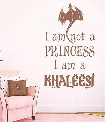 Vinyl Peel and Stick Mural Removable Wall Sticker Decals for Room Home I Am Not A Princess I Am A Khaleesi