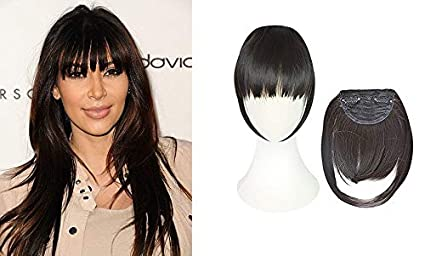 Boxo Clip On Clip In Front Hair Bang Fringe Hair Extension Piece