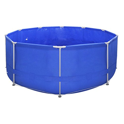 Festnight Pro Steel Frame Above Ground Swimming Pool Set 12' x 4' ,Blue by Festnight