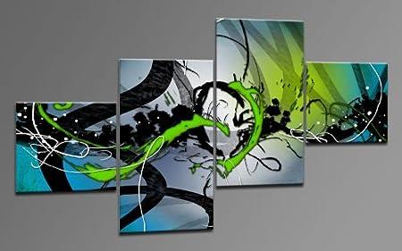 Arte moderno lienzo como 4 imágenes Art-Nr. M42414 COOL imagen ...