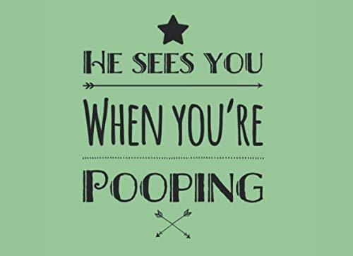 Decorating Your Office For Christmas (He Sees You When Your Pooping: Funny & Unique Christmas Bathroom Guest Book; Makes A Perfect House Warming Gift, Office Gift, Or Use In Your Own House ... inches, 101)